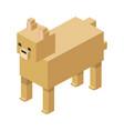 modular farm animal plastic lego toy blocks and vector image vector image