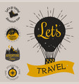 mountain outdoor camping travel hand drawn vector image vector image