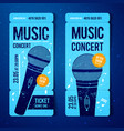 music concert ticket template with microphone vector image vector image