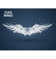 Particles of Wingsfull enterprising across vector image