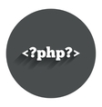 PHP sign icon Programming language symbol vector image vector image