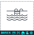 Pool icon flat vector image vector image