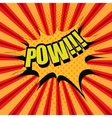 Pow comic cartoon text vector image vector image