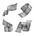 realistic set film strip movie tapes vector image vector image