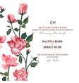rose flower bouquet pink roses bridal design vector image