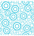 round seamless pattern of random circles and rings vector image