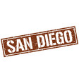 san diego brown square stamp vector image vector image