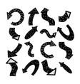 scandinavian arrows hand drawn black arrow vector image