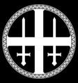 scandinavian viking design sun cross old norse vector image vector image