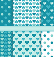 set of seamless bright patterns tiling - green a vector image vector image