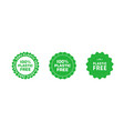 set plastic free green certificate emblems eco vector image vector image