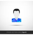 Social networks private users avatar pictogram vector image