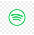 spotify social media icon design template vector image vector image