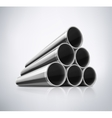 Stack of Metal Pipes vector image