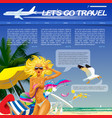 travel and voyage web site and page template vector image