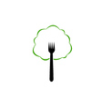 Tree shaped organic food logo vector image vector image