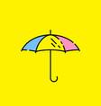 umbrella line icon vector image vector image