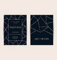 wedding invitation card set modern design vector image vector image