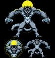 werewolf fantasy mascot vector image