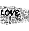 what to do when a guy doesnt love you back text vector image vector image