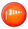 Windsock icon flat style vector image vector image
