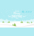 winter background in snowfall vector image vector image
