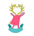 Cute cartoon hand drawn deer vector image