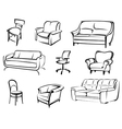 furniture objects vector image