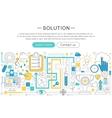 modern line flat design Solution concept vector image