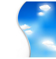 background with clouds and sky vector image