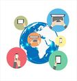 Global communication vector image