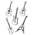 set of guitars vector image