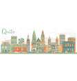 Abstract Quito Skyline with Color Buildings vector image vector image