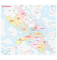 administrative and political map stockholm vector image vector image