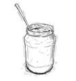 artistic or drawing jam marmalade or honey jar vector image