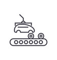 assembly car conveyor line icon sign vector image vector image