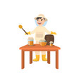 beekeeper collects honey from bees beekeeper in a vector image vector image