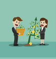 businessman and businesswoman looking for growth vector image vector image