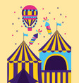 carnival tent air balloon vector image vector image