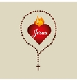 catholic rosary and holy bible icon design vector image vector image