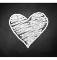 chalkboard drawing heart vector image vector image