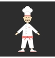 chef isolated on black background vector image