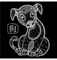 Chinese Zodiac Animal astrological sign dog vector image vector image