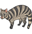 civet animal cartoon vector image vector image