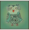 Cute Decorative Owl Lacy bird vector image