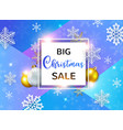 design for seasonal christmas sale vector image