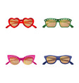 design of glasses and sunglasses icon set vector image