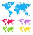 Doodle maps vector image