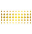 electric bulb golden halftone grid vector image