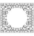Elegant circle frame with vintage ornament